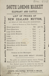 Advert for the South London Meat Market